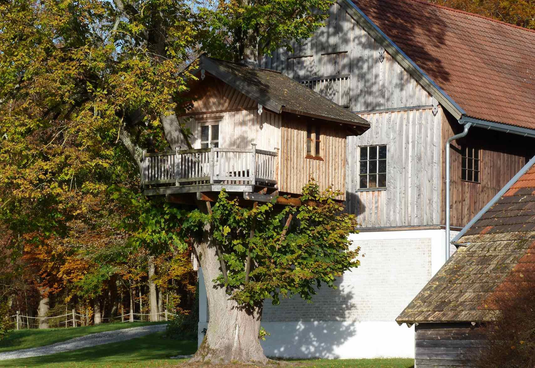 Baumhaus in Bayern, Sommer