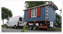 Bild ausgebaute Bauwagen