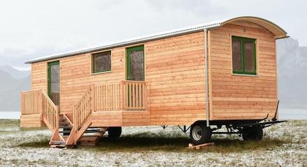 Bild Holzwohnwagen Bauwagenwerk