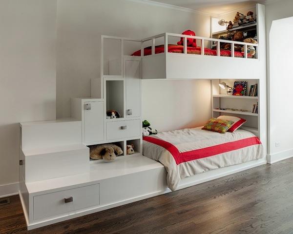 Etagenbett Mit Regal Treppe : Hochbett tomi mit schreibtisch schrank und regal möbel für dich