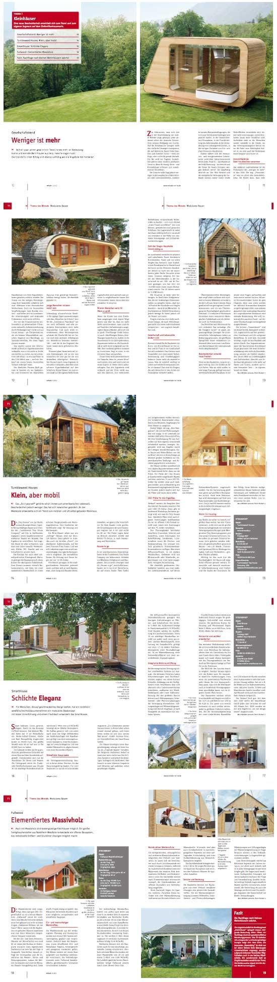 Minihaus dossier in der aktuellen mikado ausgabe tiny for Minihaus anbieter