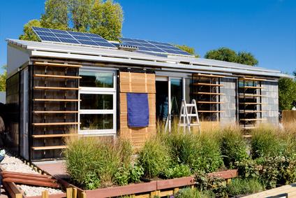 Minihaus mit Photovoltaik