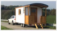 Bild Holzwohnwagen Camping
