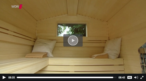 drinnen und draussen tipp diy gartenhaussauna tiny houses. Black Bedroom Furniture Sets. Home Design Ideas