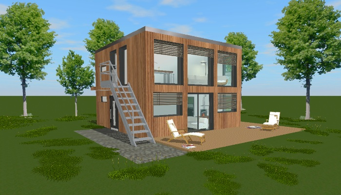 ein singlehaus f r zwei tiny houses. Black Bedroom Furniture Sets. Home Design Ideas