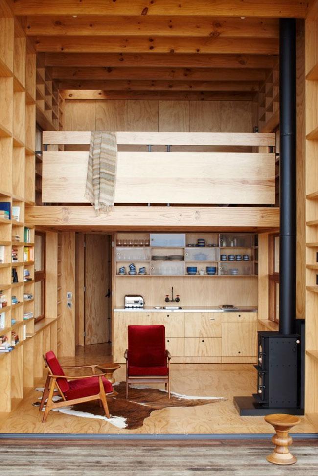 strandh tte auf kufen neuseeland tiny houses. Black Bedroom Furniture Sets. Home Design Ideas