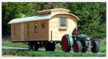 Bild Holz-Wohnwagen