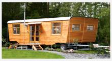 Bild Wohnwagen aus Holz - Wohlwagen